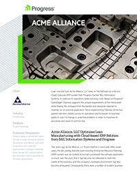 Acme Alliance Story