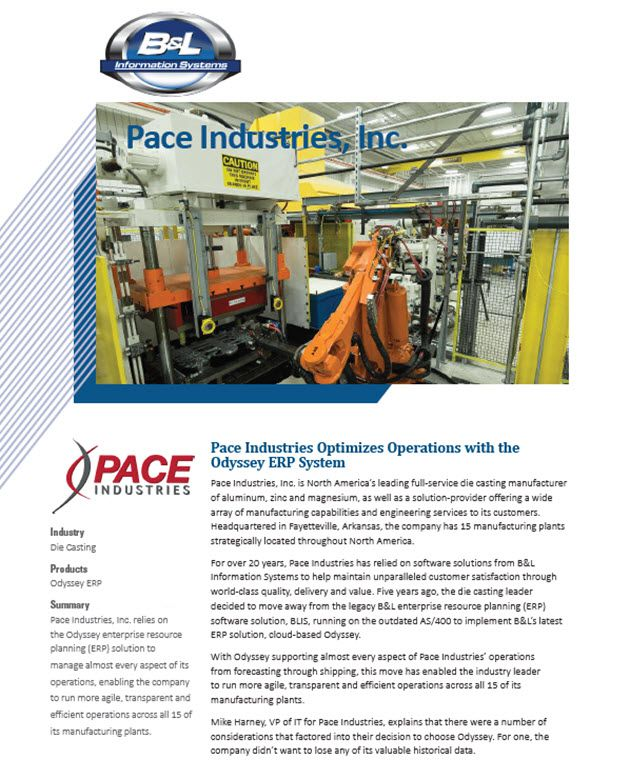 Pace Industries Story